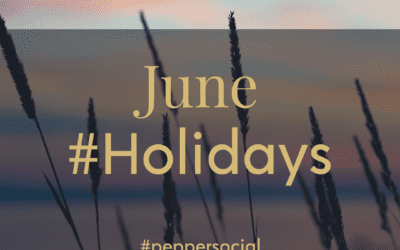 June 2021 Hashtag holidays and awareness events for Social Media marketing.